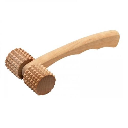 дървен масажор каток с шипове