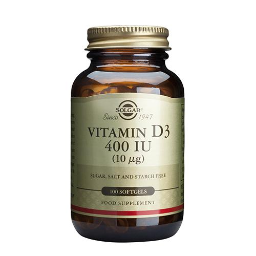 Витамин Д капсули Солгар Vitamin D3_400IU_100 softgels