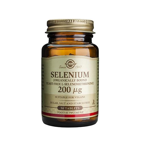 Селен Солгар Selenium_200μg_50 таблетки