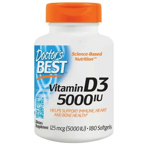 Doctor's Best Vitamin D 5000 IU / 180 Soft