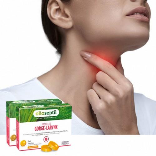 таблетки за смучене гърло и ларинкс олиосептил olioseptil pastilles-gorge-larynx