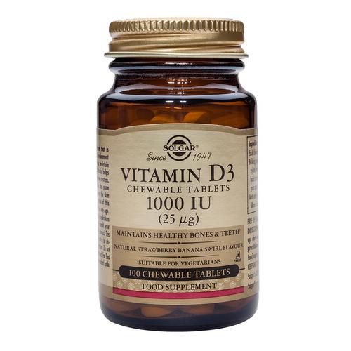 Vitamin D3_1000IU_100 дъвчащи таблетки tabs