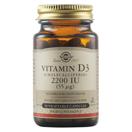 Витамин Д3- Солгар-Vitamin D3_2200IU_50 veg. caps