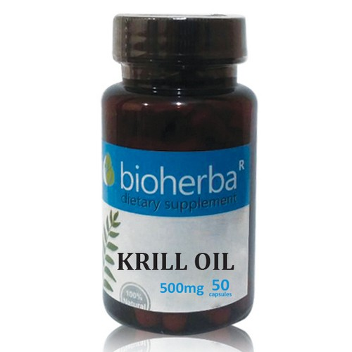 МАСЛО ОТ КРИЛ (Krill oil) 500mg, 50 софтгел капсули