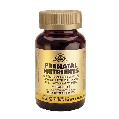 Пренатал мултивитамини за бременни и кърмачки Солгар Prenatal nutrients_60 tabs